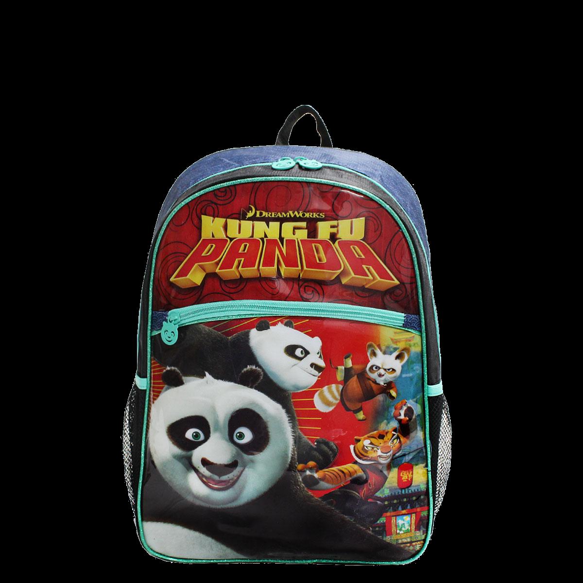 Mochila Kung Fu Panda Infantil Média C...