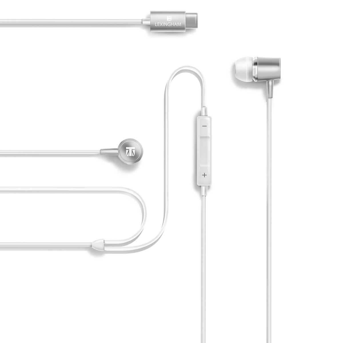 Fones De Ouvido Premium Plugue USB-C Lexingham (Branco, Único)