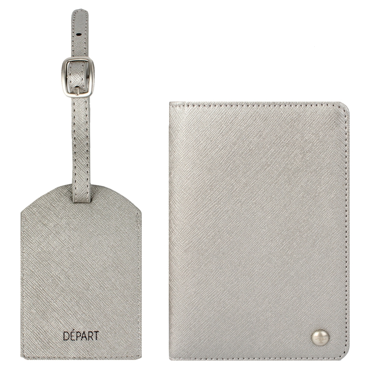 Porta Passaporte E Identificador De Bagagem Kit 2 Peças Depart (Rosa, Único)